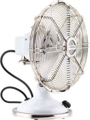 H.KOENIG JOE50 Tisch Ventilator Retro, Weiß | Baumarkt > Heizung und Klima > Ventilatoren | Metall | H.Koenig