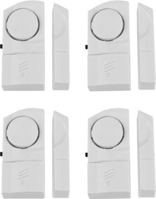 Sonstiges 4er Pack SECURE@HOME Tür- Fenster-Vitrinenalarm, 90 dB
