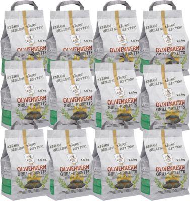 OlioBric OLIOBRIC Olivo Ketts Olivenkern Grill-Briketts, 18 kg