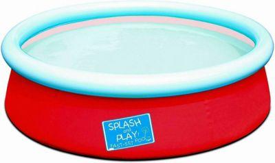 Bestway  57241 - Splash and Play Pool, Schnellaufbau (Quick-Up), Orange