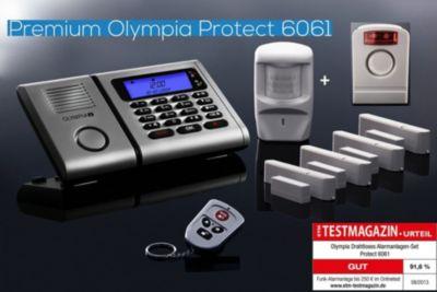 Olympia  6061 Drahtloses Alarmanlagen Super-Set mit Außensirene, Bewegungsmelder, Tür/Fensterkontakten und 1 Fernbedienung