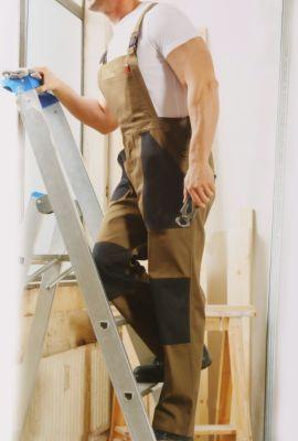 Arbeitslatzhose Größe 48 bis 58 Knieverstärkung in Beige