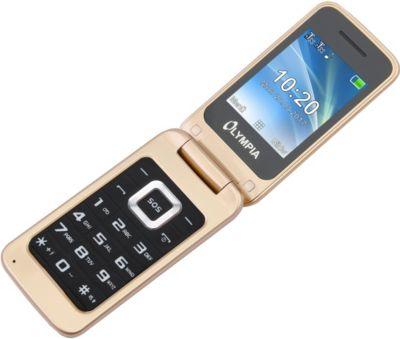 OLYMPIA Luna Senioren Mobiltelefon, Gold