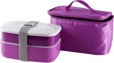 Lunchboxen und Isoliertasche in Pink