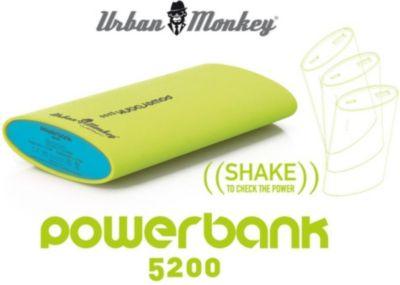 PowerBank 5200 Urban Monkeys Grün