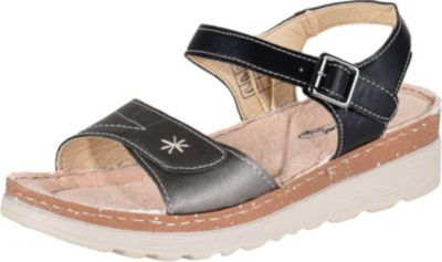 LISANNE COMFORT Damen Sandalette, Schwarz/Silber/39 /schwarz/silber