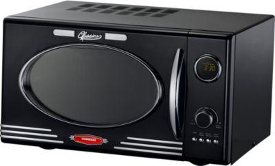 MELISSA Mikrowelle mit Grill Classico Retro Design 50th 1000 Watt, Schwarz | Küche und Esszimmer > Küchenelektrogeräte > Mikrowellen | Melissa