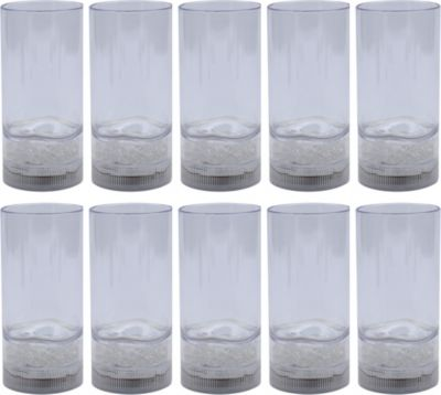 10er Pack IOIO LED 91 Trinkbecher 340 ml mit Farbwechsel