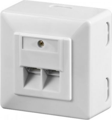 ® Netzwerkdose Cat5e/ Cat.5e Aufputz und Unterputz Dose 2port/ 2 port