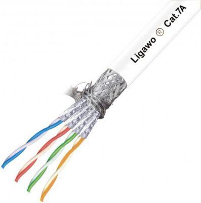 ® 1016115 Verlegekabel Cat.7A S/FTP 1500MHz weiß 100m Ring