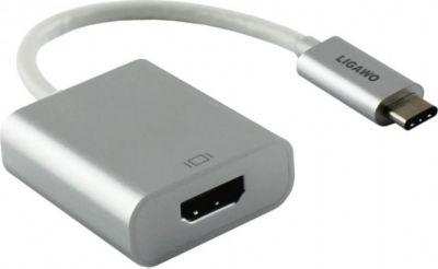 ® 6518957 USB 3.1 Typ C Stecker an HDMI Buchse Adapter silber