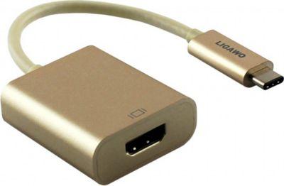 ® 6518958 USB 3.1 Typ C Stecker an HDMI Buchse Adapter gold