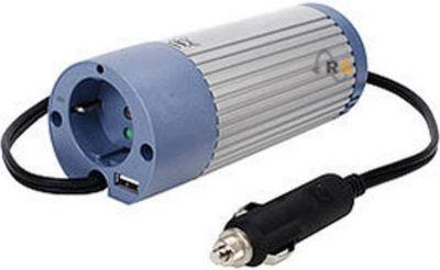 Spannungswandler 12V auf 230V, 100 Watt mit USB, Sinuswelle