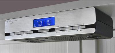 UR 2006 Küchenradio mit Funkuhr, Küchen-Unterbauradio, Silber