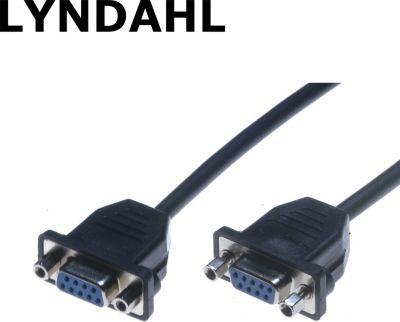 LKPK020 Sub-D 9-POL Adapterkabel f. Frontplattenmontage (2x Buchse) 0,2m