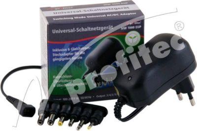 Universal Schaltnetzteil 1000 mA EuP, 3/4,5/5/6/7,5/9/12V DC,6 Adapter