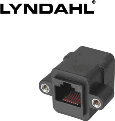 LKPA013 Adapter für Frontplattenmontage RJ45 Buchse/Buchse (F/F) CAT 5e
