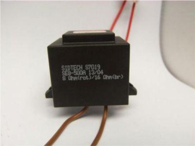 Plus P-Line Impedanzwandler mit Lüsterklemmen und Montageösen (16 Ohm auf 8 Ohm)