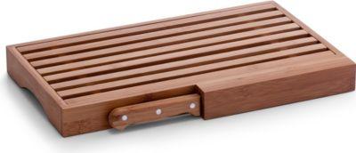 Brotschneidebrett m. Messer, Bamboo, Bambus, Größe in cm: 39,5x23,5x4