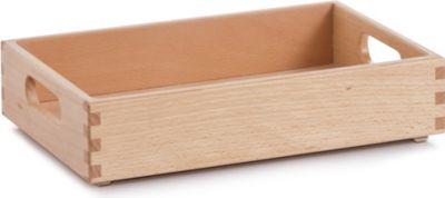 Allzweckkiste, aus Buchenholz, lackiert. Maße: 30x20x7 cm