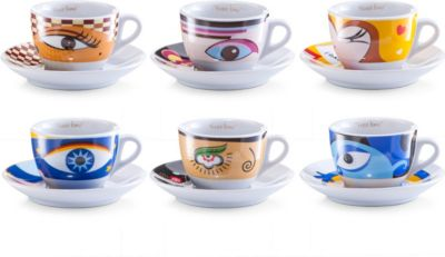 Cappuccino-Set, 12-tlg. ´´Magic Eyes´´, Porzellan