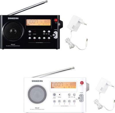 Sangean Package PR-D7, tragbares UKW-Radio, schwarz oder weiß Farbe: weiß