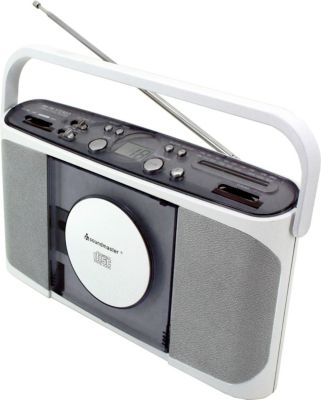 RCD 1400 stereo Kofferadio mit CD-Player und UKW-Radio in weiß