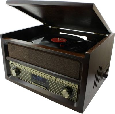 NR 515 Nostalgie Stereo Musikcenter mit CD, Plattenspieler, uvm.