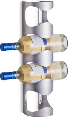 Zeller Wand-Flaschenhalter, Edelstahl