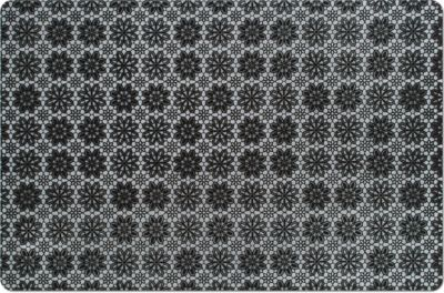 Platzset ´´Flowers´´, PP, schwarz, Maße: 43,5x28,5 cm