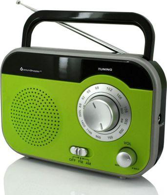 Soundmaster TR410GR Tragbares MW/UKW Radio in GRÜN