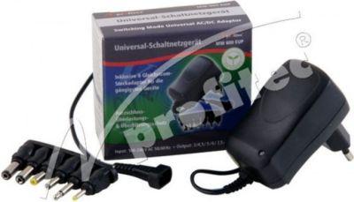 Universal Schaltnetzteil 600 mA EuP, 3/4,5/5/6/7,5/9/12V DC,6 Adapter