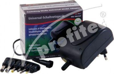 Universal Schaltnetzteil 1500 mA EuP, 3/4,5/5/6/7,5/9/12V DC, 6 Adapter