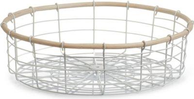 15101 Aufbewahrungskorb ´´Nordic´´, rund, Metall/Weide