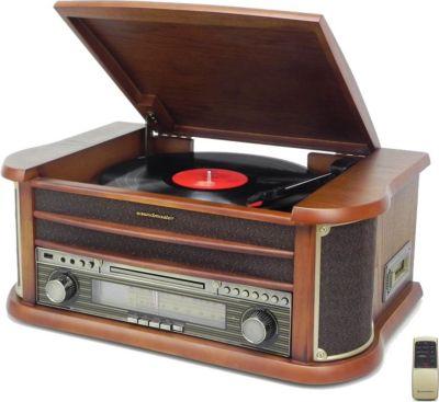 NR540 Nostalgie Stereo Musikcenter, mit CD/MP3, USB, Plattenspieler