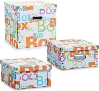 Aufbewahrungsbox ´´Box´´ mit Deckel, Pappe, weiß, vers. Größen Größe: 40 x 33 x 17 cm