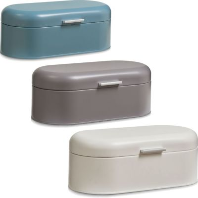 Brotkasten / Brotbox aus Metal in verschiedenen Farben Farbe: grau