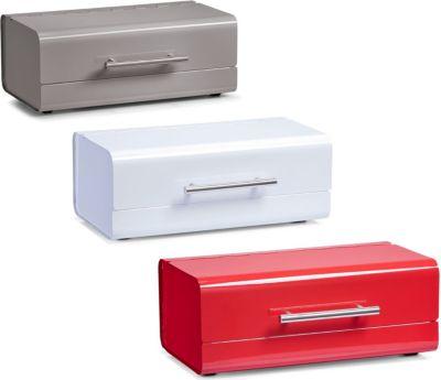 Brotkasten, Metall, Größe in cm: 36x23x14 verschiedene Farben Farbe: rot