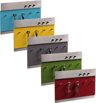 EMFORM OBJECT Schlüsselbrett, Edelstahl, Wollfilz in verschiedenen Farben Farbe: Safran | Flur & Diele > Schlüsselkästen | Emform