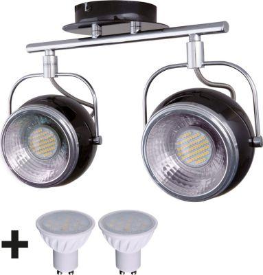 Heitronic Strahler RETRO Deckenstrahler 2 flammig Metall / Leuchtmittel 5,0 W liegt bei