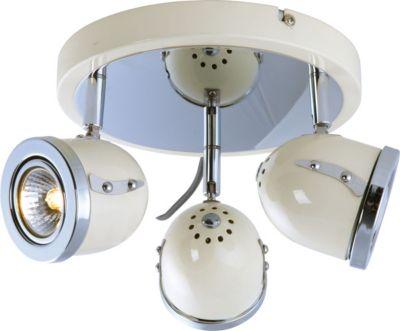 Heitronic Deckenstrahler BEL AIR 3-flammig Deckenleuchte inkl. 3x 3W LED GU10 Leuchtmittel