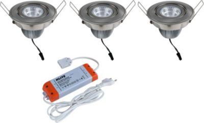 Aluminium LED Einbaustrahler 3er Set FLORIDA
