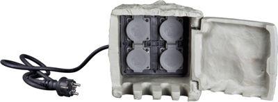 insatech 4-Fach Steinsteckdose BASIC - STEIN für Garten und Außenbereich Energieverteiler