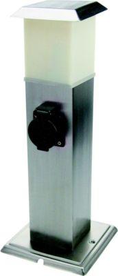 Edelstahl 2-fach Energieverteiler TAIPEH mit LED Beleuchtung Gartensteckdose A++