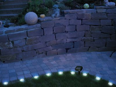 Solar LED Rasenkanten Lichterkette 12-teilig PROMENADE