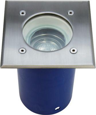 Hochvolt Bodeneinbaustrahler SPANDAU schwenkbar, eckig inkl. GU10 Leuchtmittel 230V