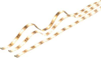 Heitronic 3er Set LED Strips je 500mm, 3x3W, Lichtleiste warmweiß, Lichtschlauch für innen