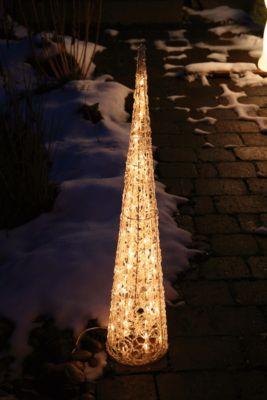 Heitronic  Dekorativer Lichtkegel Weihnachtsdeko Weihnachtspyramide Weihnachtskegel für Außen