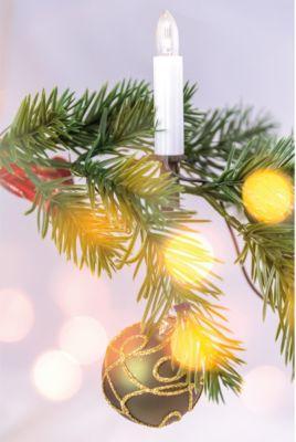 Heitronic  LED Lichterkette für Weihnachtsbaum 6m warmweiß für innen Weihnachtsbaumkette