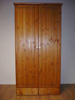 Kleiderschrank Schrank Kiefer massiv honig